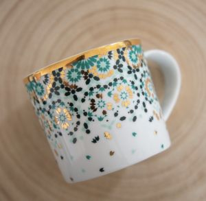 Mirrors Mug - Emerald Green