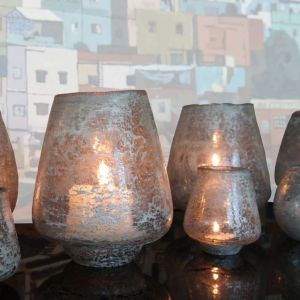 Hand Blown Glass Candle Holder (S)