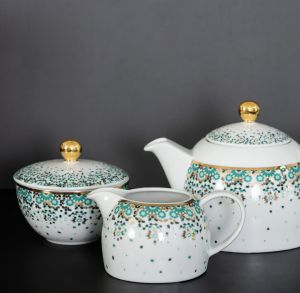 Mirrors Tea Set - Emerald