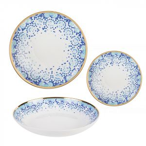 18-piece Mirrors Dinnerware Set