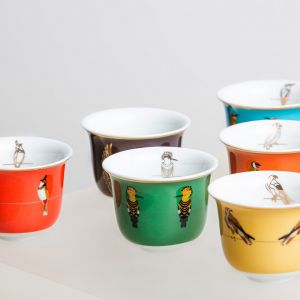 Sarb Arabic Coffee Cup - Hoopoe
