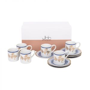Gift Box Of 6 Kunooz Espresso Cups and Saucers