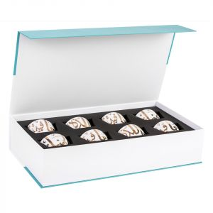 Gift Box of 8 Ghida Nut Bowls - Gold