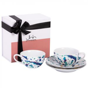 Gift Box of 2 Fairuz Porcelain Teacups