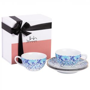 Gift Box of 2 Mirrors Porcelain Teacups