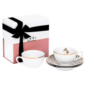 Gift Box Of 2 Majestic Porcelain Teacups