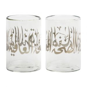 Set of 2 Diwani Double Walled Glasses - Silver