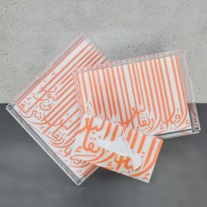 Ghida Tissue Box - Coral