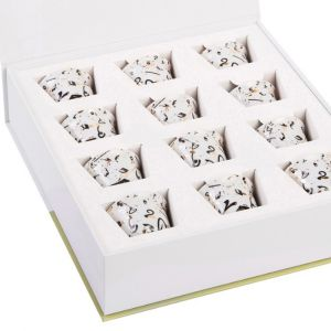 Gift box of 12 Accents Arabic Coffee Cups - Black