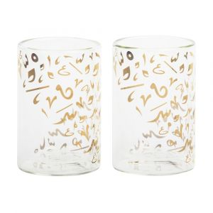Set of 2 Accents Double Walled Glasses