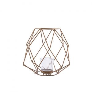 Bronze Iron Wire and Glass Ashkaal Candle Holder (S)
