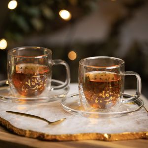 Set of 2 Accents Double Walled Cups