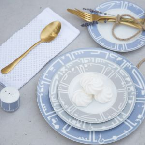 Kufic Bread Plate - Grey