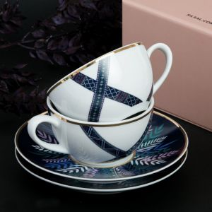 Set Of 2 Tala Porcelain Teacups & Saucers